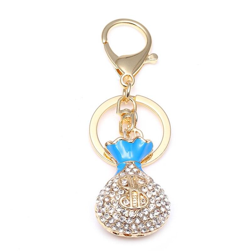 TOGORY, улыбка, мышь, опалы, кристалл, эмаль, сумочка, брелки, брелки для автомобиля, кошелек, сумка, пряжка, брелки, держатель для женщин - Color: KY11