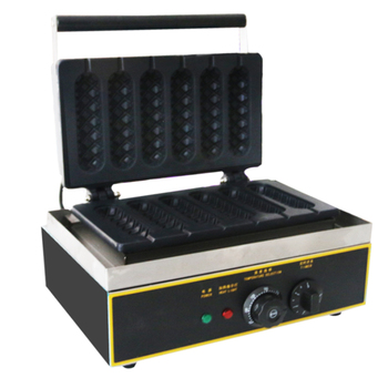 Snack Equipment Waffle Machine Stainless Steel Six Piece Hot Dog Maker