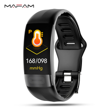 MAFAM P11 Sport Smart Bracelet Fitness Band Heart Rate Blood Pressure Monitor Call SMS Reminder Bluetooth Clock For IOS Android