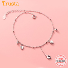 Heart-Anklets Beads 925-Jewelry 925-Sterling-Silver Women Real Fashion Trustdavis