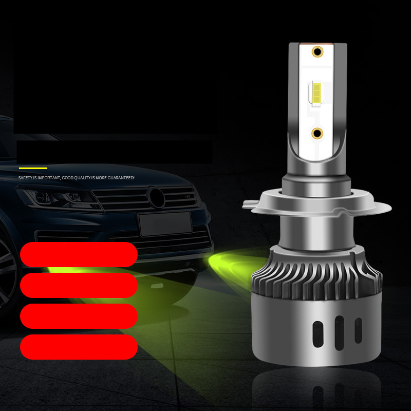 2Pcs Car Headlight LED Bulbs 6000K Light Fog Lamps H1 H3 H8H11 90059006 H7 Fog Driving Lemon Green Color AUTO Leds Lamp 12V