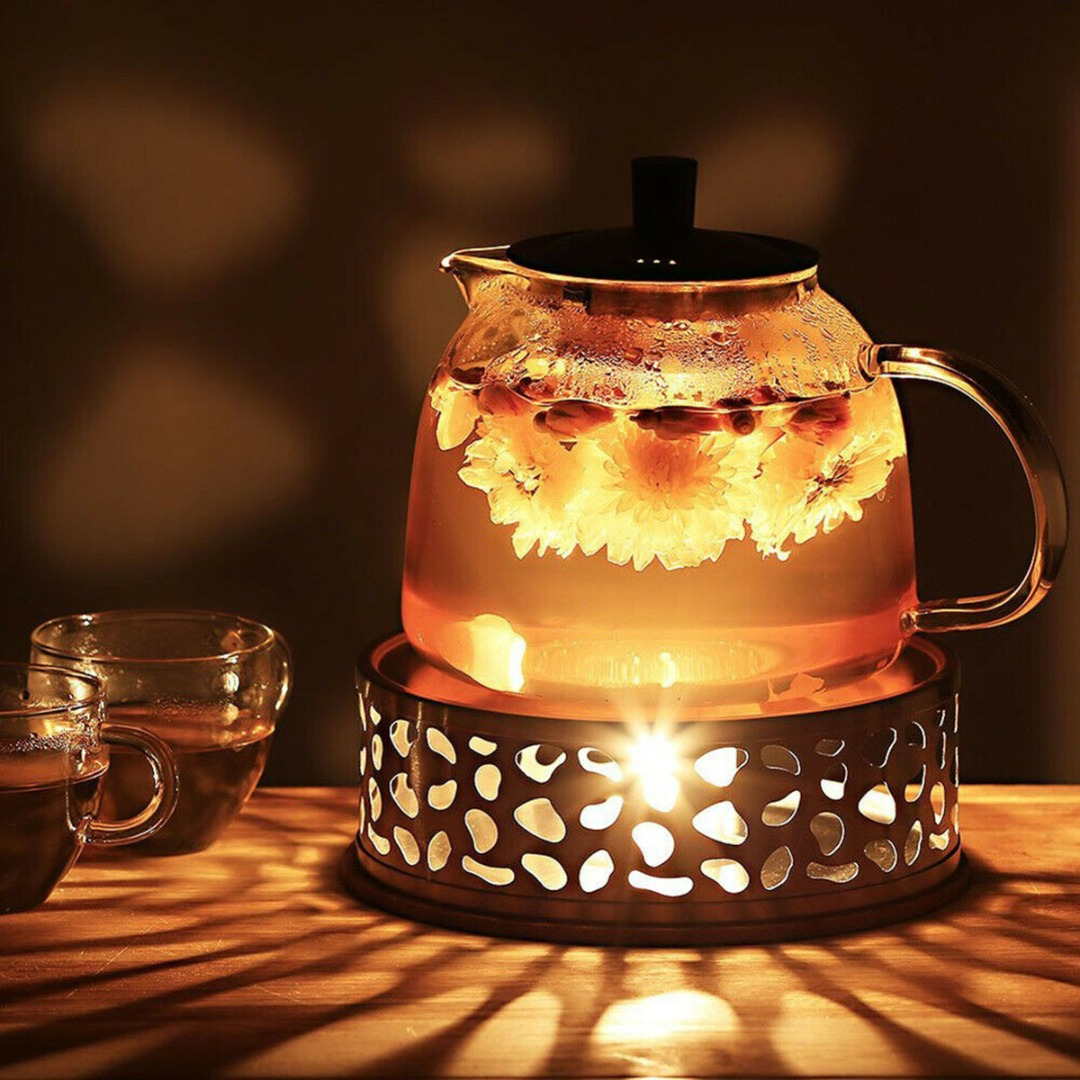 ステンレス鋼ウォーマーティーライトホルダーコーヒーティーポットホルダーベース暖かいホットプレートホーム茶器 Coffeeware ティーポット Trivets