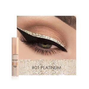 Image 4 - Focallure 5 cores glitter eyeliner sombra para fácil de usar à prova dwaterproof água líquido delineador maquiagem brilho olho forro