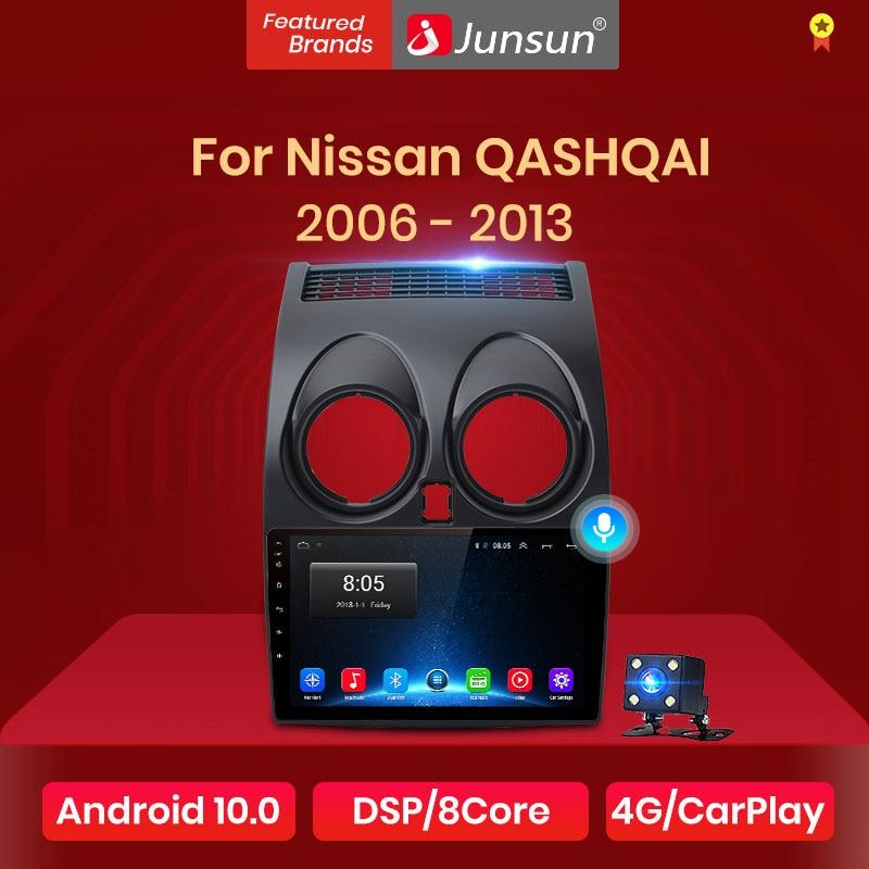 Junsun – autoradio pour Nissan Qashqai J10 2006 2007 2008 2009 -2013, Android 10, commande vocale AI, multimédia, GPS, 2 din, dvd, pour voiture