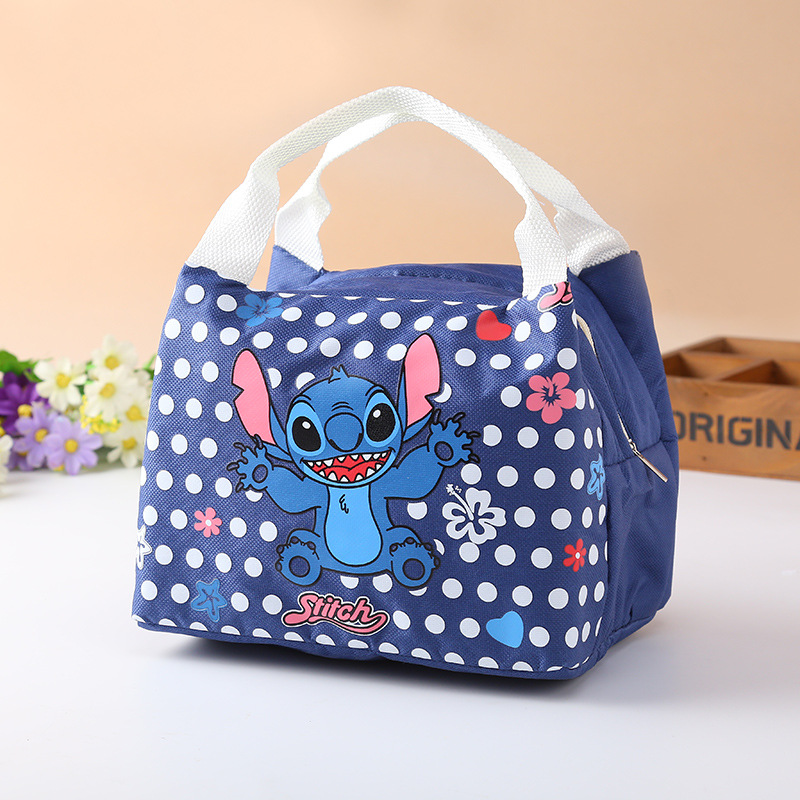 Disney Cartoon Insulation Bag Korean Version Stitch Cute Lunch Box Bag Barbecue Handbag Outdoor Ice Tote Bag