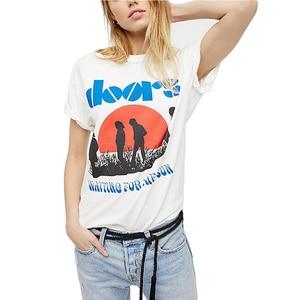 Zomer Grafische T-shirt Vrouwen Casual Katoenen Vintage Wit Egirl Esthetische Grunge Koreaanse Stijl Kpop Retro Tops Plus Size Kleding(China)