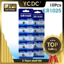 Ycdc 10ピース/ロット3 3v cr 1025 CR1025リチウムボタン電池DL1025 BR1025 KL1025携帯コイン腕時計電子おもちゃ