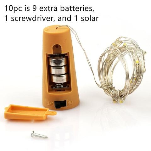 30pk tinha 30 luzes de garrafa 27 baterias extras e 4 luzes