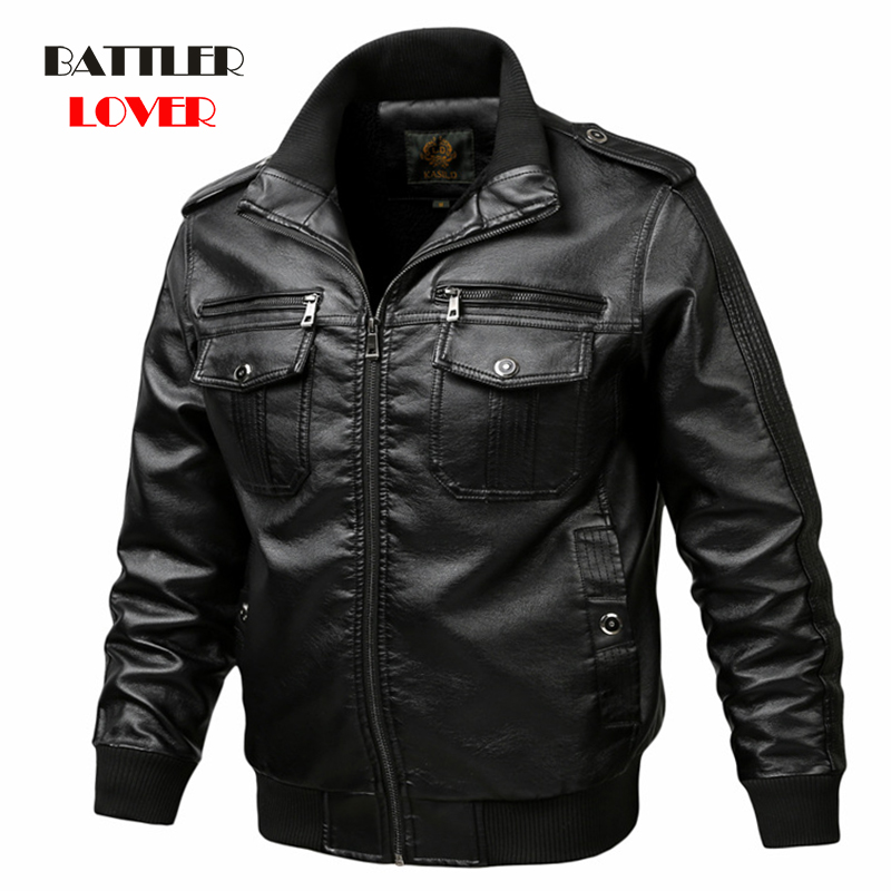New Brand Jacket Punk Multi Design Style Motorcycle Biker Leather Jacket Men Fashion Skull Leather Coats Male Bomber Jacket 6XL