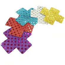 50pairs (100Pcs) Women Sexy Adhesive Breast Petal Pasties Nipple Cover Cross/X Seamless Disposable