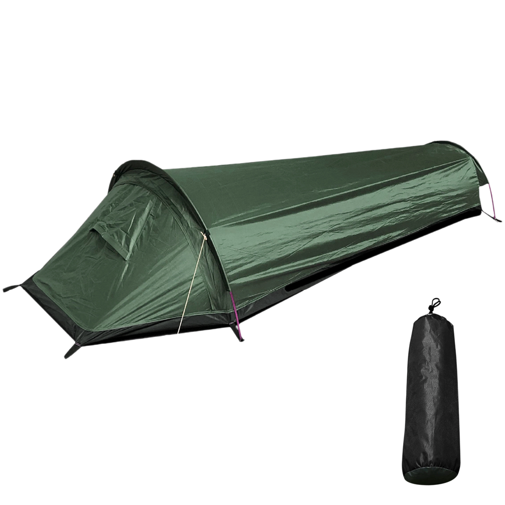 Camping Single Person Coffin Tent Travel Backpacking Tent Outdoor Camping Sleeping Bag Tent Lightweight Tent image