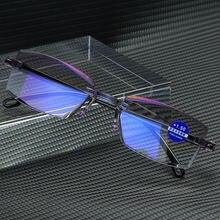 Elbru анти синий светильник очки для чтения без оправы квадратные
