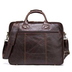 Nowe oryginalne męskie skórzana teczka laptop messenger torby człowiek torebka zastosuj 15.6 Cal przenośny komputer spraw biznesowych projektant