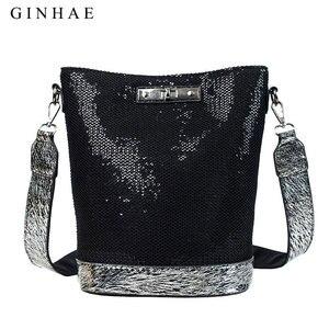 Image 5 - 2020春の新到着スパンコール女性バッグファッションハンドバッグ高級レザーショルダーバッグスモールクロスボディバッグ女性のためのブランド嚢