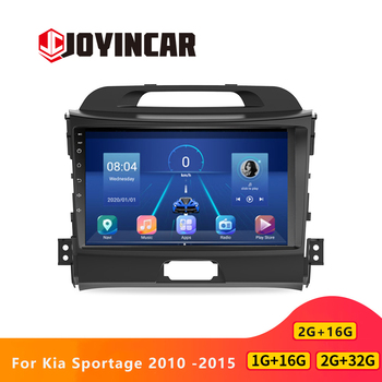 JOYINCAR 2 Din Car Radio Android 9.1 Multimedia Player for Kia Sportage 2010 2012 - 2014 2015 2 Din autoradio 9in WiFi Bluetoot image