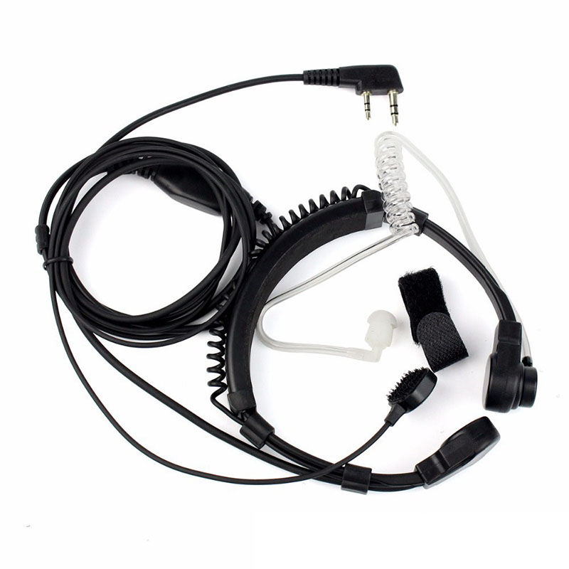 Extendable PTT Throat Microphone Mic Earpiece Headset For Baofeng UV-5R UV-5RE Brand New And High Quality