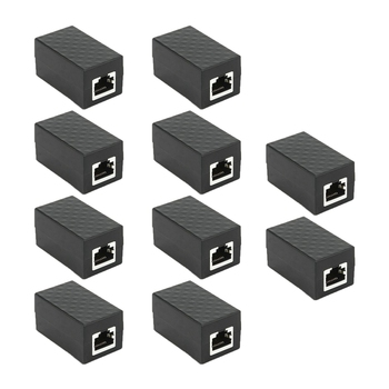 10PCS RJ45 Coupler Female to Female Ethernet Network Surge Protector Outdoor Arrester Device Extension Cable Adapter 1