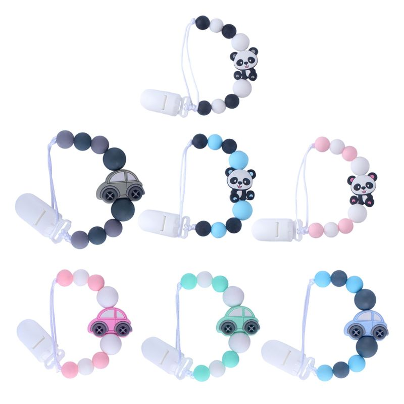Baby Pacifier Clips Panda Pacifier Chain Holder For Soother Chew Toy Dummy Clips 19QF