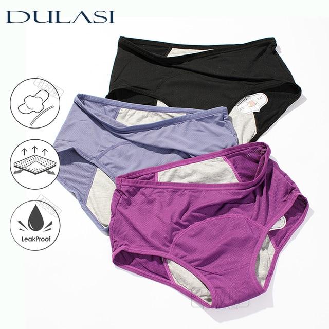 3pcs Leak Proof Menstrual Panties Physiological Pants Women Underwear Period Comfortable Waterproof  Briefs