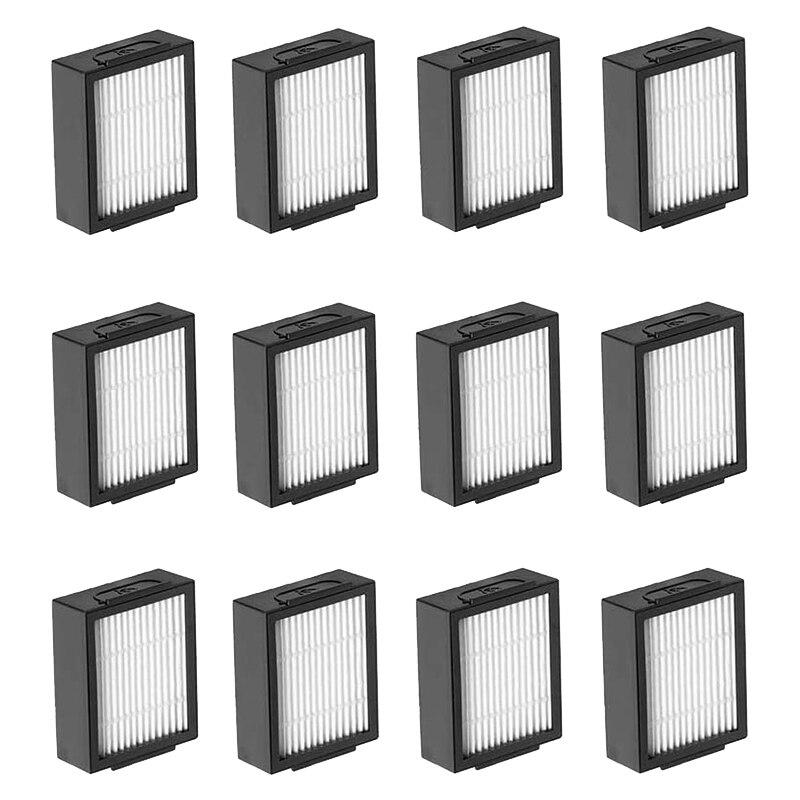 Сменные фильтры 12 упаковок, для пылесоса IRobot Roomba I7 + E5 E6, пополняющий фильтр Roomba серии I & E