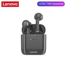 Lenovo QT83 TWS Bluetooth 5.0 Earphone Wireless Headset Waterproof Sport Earbud Noise Cancelling Mic Dual Stereo HIFI Bass