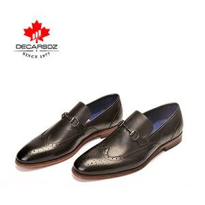 Image 5 - DECARSDZ גברים מלא גרגרים עור אמיתי נעלי גברים מותג אוקספורד גברים נעלי אופנה חדש יוקרה שמלת נעלי גברים פורמליות נעליים