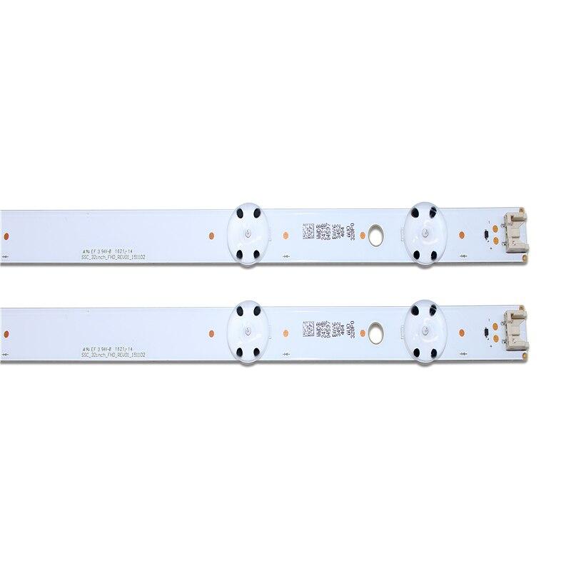 New Kit 2 PCS 7LED 615mm LED Blacklight Strip For LG 32LH604V 32LH530V 32LH60_FHD_A 32LH60_FHD S L SSC_32inch_FHD_REV01_151102