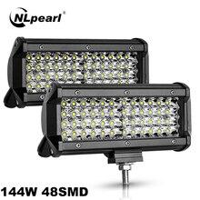 NLpearl Offroad LED Light Bar/work Light 12 24 Volt Spotlight LED Light Bar for Car Truck Boat Niva Lada 4x4 Atv LED Headlights