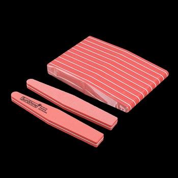 20pcs Nail Buffer 100/180 Double-side Nail Polish Buffer Sanding Block Buffers For Nails Art Tools Buffing Sponge File 5 Colors 6