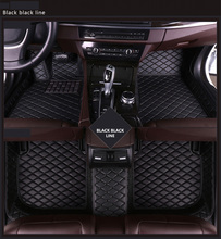 Customized Car Floor Mats for CADILLAC Escallade  6seat 2006 2007 2008 2009 2010 Long 2013 Leather Accessories