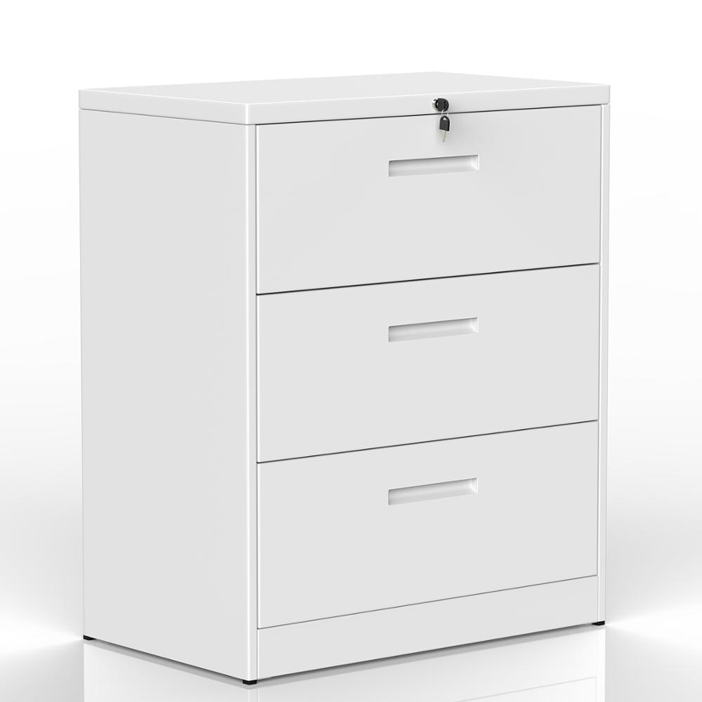 Bedroom Cabinet Lateral Three Layers Lockable Metal Heavy Duty 3 Drawer File Cabinet Modern