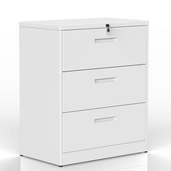 Bedroom Cabinet Lateral Three Layers Lockable Metal Heavy Duty 3 Drawer File Modern - discount item  40% OFF Home Furniture
