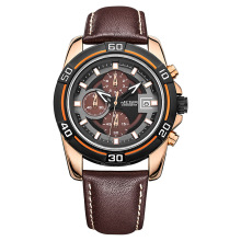 цены MEGIR Brand Men Business Watch Luxury Leather Strap Chronograph Quartz Military Wrist Watches Clock Men Relogio Masculino 2023