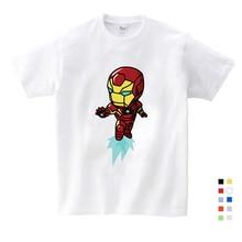 2019 Children Short Sleeve T-shirt Tee Tops Baby Girls Clothes Iron Man Cartoon Pattern, 100% Cotton T Shirt Suit Top  T Shirt удлинитель фотон сетевой 10 33 3 розетки х 3м без заземления