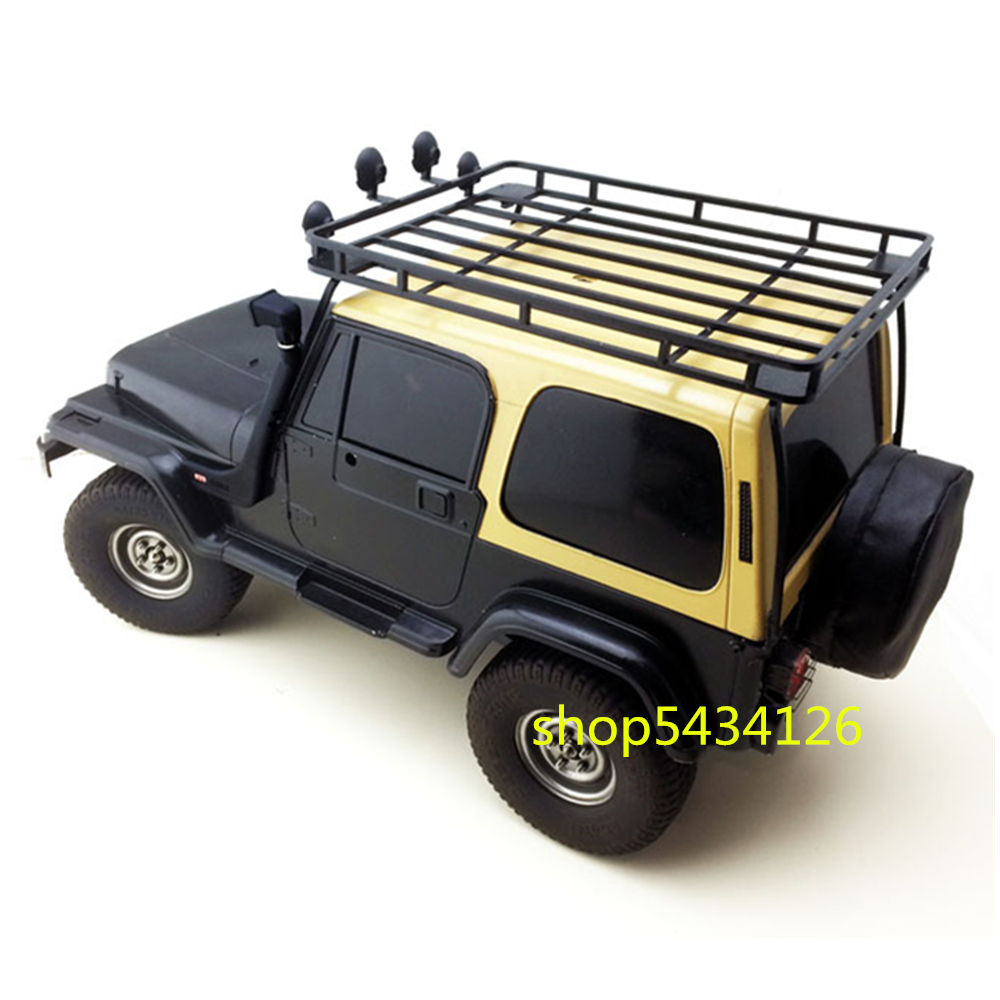 Black Metal Body Roof Rack For 1/10 Rc Car Tamiya cc01 Wranglers Jeeps Buggy Diy Accessories Parts