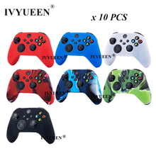 IVYUEEN 10 Pcs Silicone Case for XBox Series X S Controller Protective Skin Gel Cover with Analog Thumb Stick Grip Cap Wholesale
