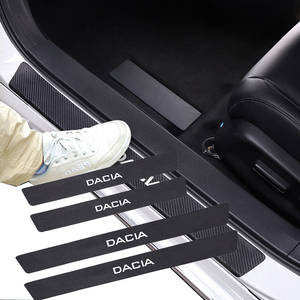 Image 1 - 4 قطعة سيارة ألياف الكربون عتبة الباب عتبة ملصق ل داسيا داستر لوجان سانديرو Stepway Lodgy Dokker