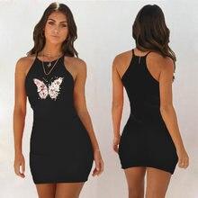 Женское короткое платье с цветочным принтом облегающее пляжное