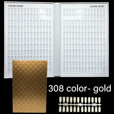 120/160/240/308 Nail Gel Polish Display Book Embedded Professional Nail Color Card Model Nail Gel Polish Color Nail Art Tools