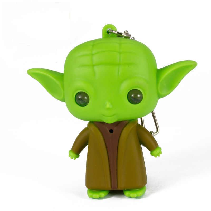Bébé yodaing Figure jouet Star Wars lumière LED porte-clés mignon sagesse maître poupée jouets pour enfants enfants nouvel an cadeaux d'anniversaire