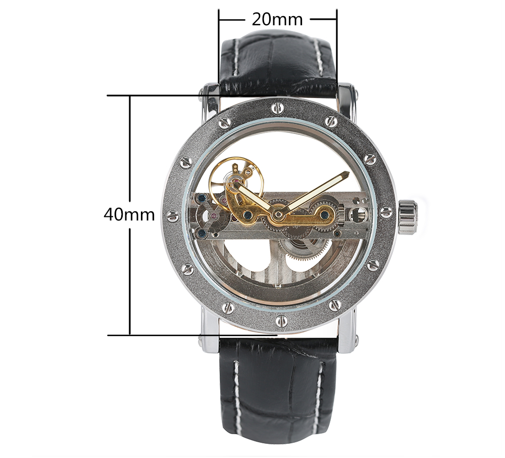 Luxury Hollow Automatic Watch Mechanical Men Black Leather Wrist Watches Transparent Skeleton Business Casual Self Wind Luxury Hollow Automatic Watch Mechanical Men Black Leather Wrist Watches Transparent Skeleton Business Casual Self Wind Clock