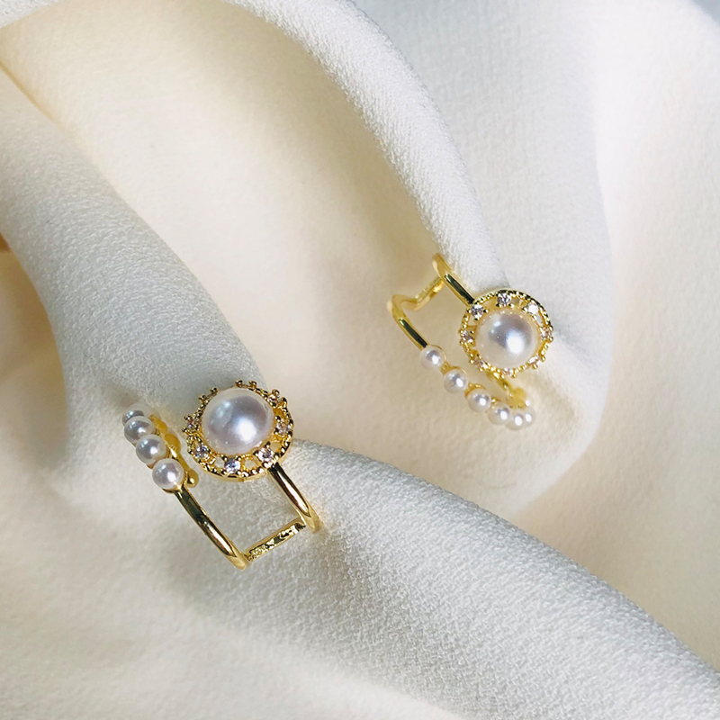 AOMU 2020 New Vintage Retro Palace Style Pearl Earrings for Women Chic Party Jewelry Accessories Gifts