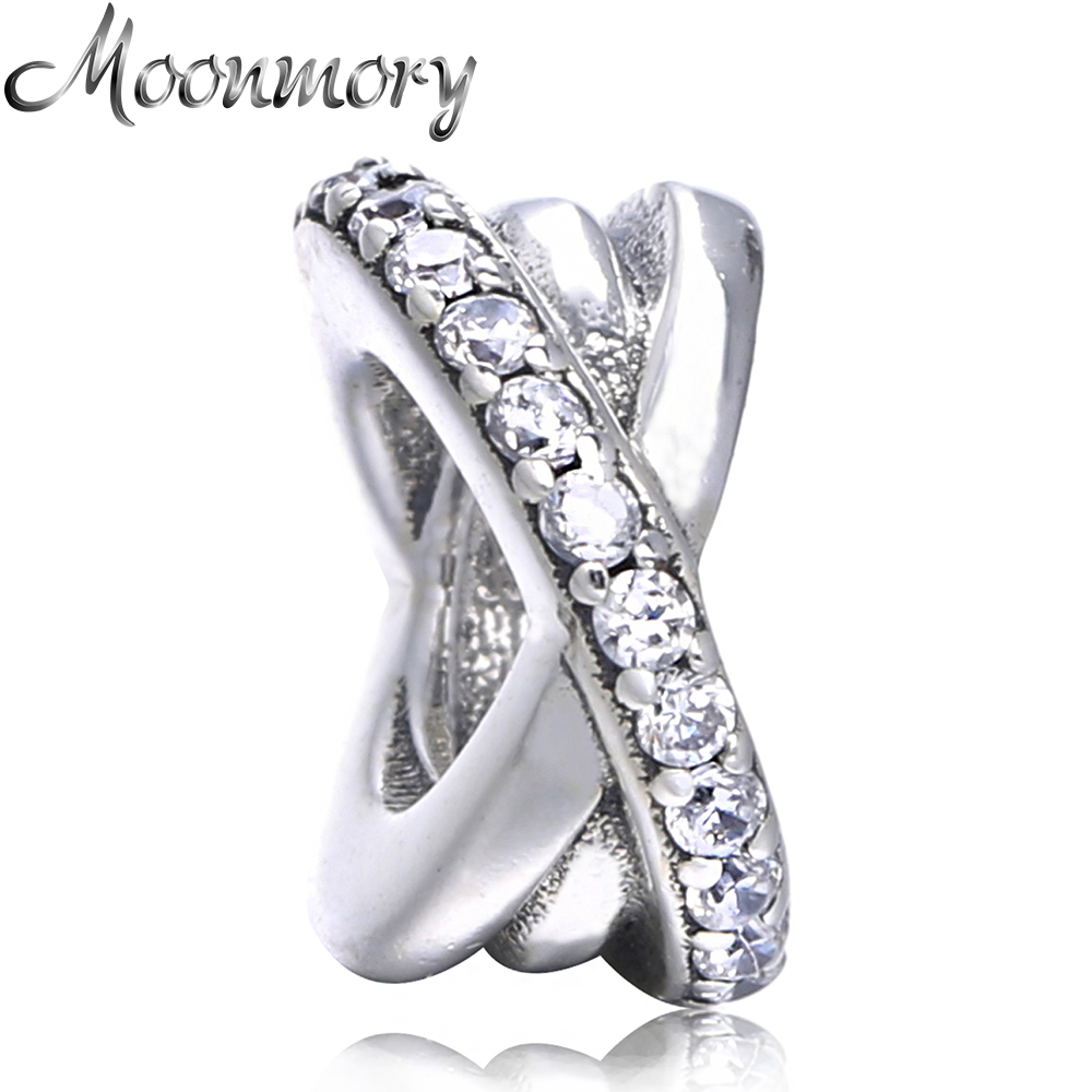 Moonmory 925 Sterling Silver  Galaxy Spacer Beads Charms For Jewelry Making Fit for Brand  Bracelet Diy Fine Jewelry Making