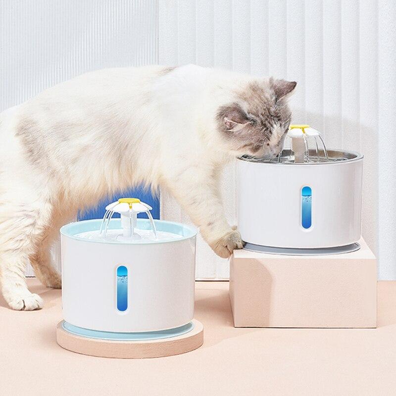 Кошка Вода Фонтан собака Питьевая чаша Pet USB Автоматический Диспенсер воды Супер Тихий поилка Авто питатель