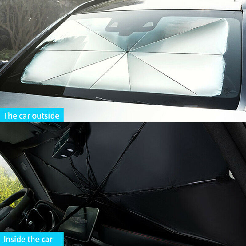 Summer Necessities Universal Summer Car Front Gear Sunshade Screen Heat Insulation Sunshield Umbrella Design