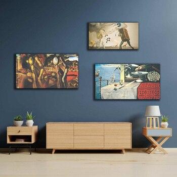 Cuadros modulares de pared de Salvador Dalí, cuadros de surrealismo, impresiones, póster, decoración del hogar, clásico para sala de estar, sin marco