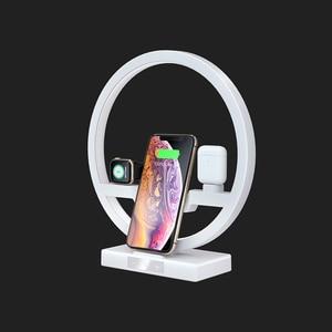 Image 5 - 3 ב 1 צ י מהיר אלחוטי מטען Dock עבור iPhone 11 פרו מקסימום עבור אפל שעון iWatch 1 2 3 4 5 Airpods מטען מחזיק LED מנורת 2019