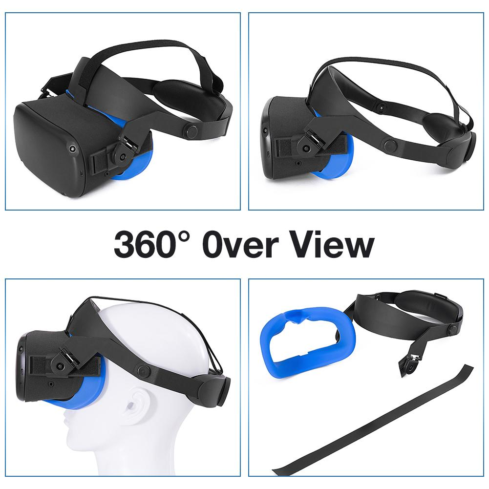 Headband Head Strap For Oculus Quest VR Gaming Headset Strap For Oculus Quest Cushion Headband Fixing Accessories 5
