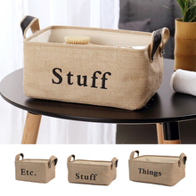 Folding Storage Basket Foldable Linen Box Bins Fabric Organizer Organize Office Bedroom Closet Toys Laundry New