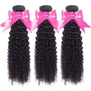 Image 2 - Fasci ricci crespi estensioni malesi dei capelli umani colore naturale tessuto dei capelli ricci di gerusalemme elle spedizione gratuita